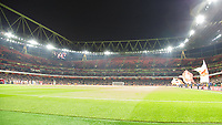 Football - 2018 / 2019 EFL Carabao (League) Cup - Fourth Round: Arsenal vs. Blackpool<br /> <br /> As the players come onto the pitch the stadium is less than half full at The Emirates.<br /> <br /> COLORSPORT/DANIEL BEARHAM