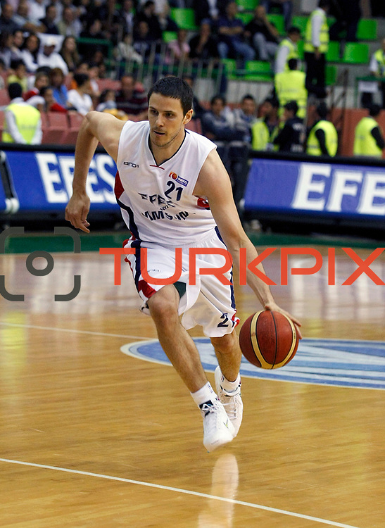 Efes Pilsen's Bostjan NACHBAR during their Turkish Basketball league Play Off Final second leg match Efes Pilsen between Fenerbahce Ulker at the Ayhan Sahenk Arena in Istanbul Turkey on Saturday 22 May 2010. Photo by Aykut AKICI/TURKPIX