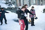 MARCHELLO SANTO BORNI; ALESSANDRA SANTO BORINI. Treasure Hunt in aid of the Knights of Malta,  St. Moritz, Switzerland. 23 January 2009 *** Local Caption *** -DO NOT ARCHIVE-© Copyright Photograph by Dafydd Jones. 248 Clapham Rd. London SW9 0PZ. Tel 0207 820 0771. www.dafjones.com.<br /> MARCHELLO SANTO BORNI; ALESSANDRA SANTO BORINI. Treasure Hunt in aid of the Knights of Malta,  St. Moritz, Switzerland. 23 January 2009