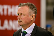 Northern Ireland Manager Michael O'Neill during the UEFA European 2020 Qualifier match between Northern Ireland and Estonia at National Football Stadium, Windsor Park, Northern Ireland on 21 March 2019.