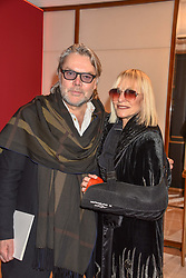 David Downton and Virginia Bates at the reopening of the Cartier Boutique, New Bond Street, London, England. 31 January 2019. <br /> <br /> ***For fees please contact us prior to publication***