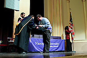 SHOT 5/10/15 3:09:04 PM - Naropa University Spring 2015 Commencement ceremonies at Macky Auditorium in Boulder, Co. Sunday. Parker J. Palmer, a world-renowned author and activist known for his work in education and social change, delivered the commencement speech to more than 300 graduate and undergraduate students along with Naropa faculty and graduate's family members. Naropa University is a private liberal arts college in Boulder, Colorado founded in 1974 by Tibetan Buddhist teacher and Oxford University scholar Chögyam Trungpa. (Photo by Marc Piscotty / © 2014)