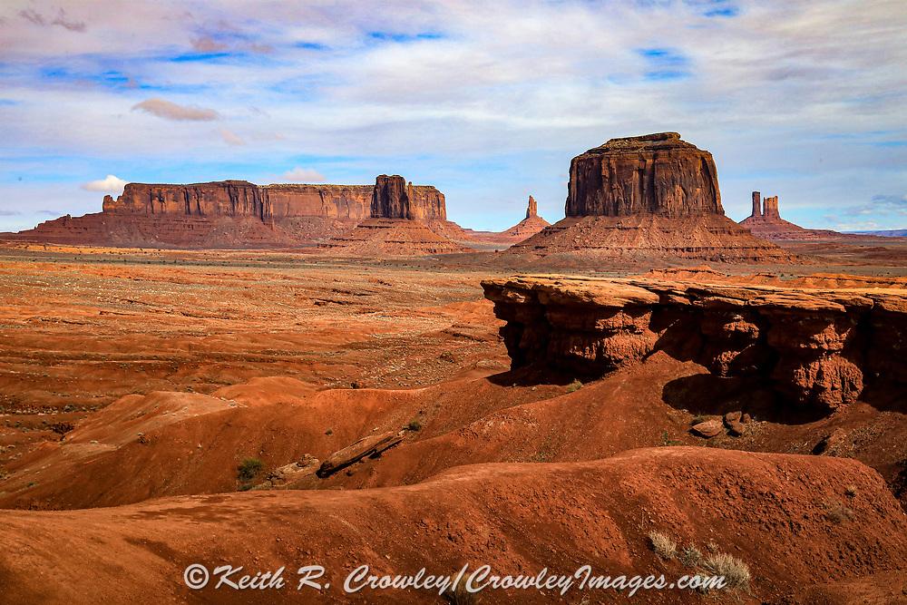 John Ford Point in Monument Valley on the Arizona-Utah border.