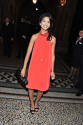 KONNIE HUQ at the annual Chain of Hope's annual Gala Ball held at the Natural History Museum, London on 8th November 2012.