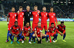 The England starting 11 starting the fixture against Slovenia - Mandatory by-line: Robbie Stephenson/JMP - 11/10/2016 - FOOTBALL - RSC Stozice - Ljubljana, England - Slovenia v England - World Cup European Qualifier