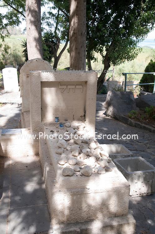 Israel, Sea of Galilee, Kibbutz Kinneret Cemetery Grave of the poet Rachel (Rachel Bluwstein Sela 1890 - 1931)