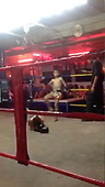 SHOCKING brutal moment two 9 year old Muay Thai boxers knock each other out in brutal fight