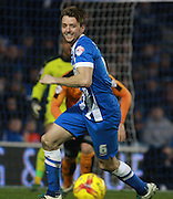 Brighton central midfielder Dale Stephens during the Sky Bet Championship match between Brighton and Hove Albion and Wolverhampton Wanderers at the American Express Community Stadium, Brighton and Hove, England on 1 January 2016. Photo by Bennett Dean.