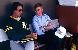 Tony La Russa and George Will, 1991