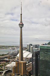 May 29, 2017 - Toronto, Ontario, Canada - Elevated view of the city of the CN Tower and Rogers Centre Stadium in Toronto, Ontario, Canada on 29 May 2017. (Credit Image: © Creative Touch Imaging Ltd/NurPhoto via ZUMA Press)