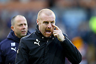 Burnley Manager Sean Dyche looks on prior to kick off. The Emirates FA cup 4th round match, Burnley v Bristol City at Turf Moor in Burnley, Lancs on Saturday 28th January 2017.<br /> pic by Chris Stading, Andrew Orchard Sports Photography.