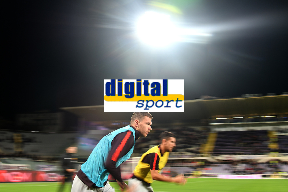 Edin Dzeko of AS Roma during the warm up before the Serie A 2018/2019 football match between ACF Fiorentina and AS Roma at stadio Artemio Franchi, Firenze, November 03, 2018 <br />  Foto Andrea Staccioli / Insidefoto