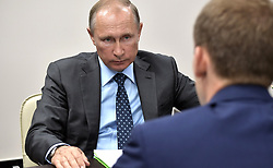 August 3, 2017 - Amur Region, Russia - August 3, 2017. - Russia, Amur Region. - Russian President Vladimir Putin and Amur Region Governor Aleksander Kozlov (right) during a meeting. (Credit Image: © Russian Look via ZUMA Wire)