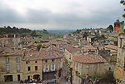 View over the town. The town. Saint Emilion, Bordeaux, France