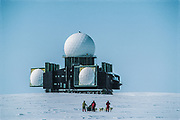 Dye II Early Warning radar system, abandoned station, Dog sledging and skiing across Greenland icecap, Arctic