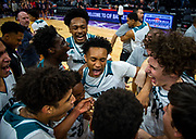 Sheldon High School celebrates after winning during the Sac-Joaquin Section Division I championship game Saturday night at Golden 1 Center. Sheldon won the title, and both advance to the CIF NorCal Regionals in the Open Division.