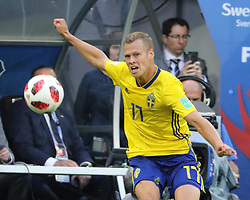 July 3, 2018 - Russia - July 03, 2018, St. Petersburg, FIFA World Cup 2018 Football, the playoff round. Football match of Sweden - Switzerland at the stadium of St. Petersburg. Player of the national team Victor Classon. (Credit Image: © Russian Look via ZUMA Wire)