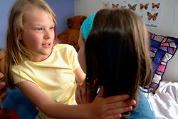 Girl listening to her friend who is upset