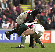Leicester, Leicestershire, 3rd May 2003, Welford Road Stadium, [Mandatory Credit: Peter Spurrier/Intersport Images],Zurich Premiership Rugby - Leicester Tigers v London Irish<br /> Chris Sheasby