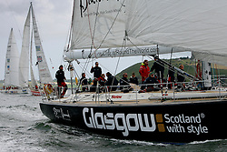 Journey aboard the Glasgow Clipper from 14th and final race of the Clipper Round the World Race Cork to Liverpool.<br /> The Glasgow Clipper just prior to the start.
