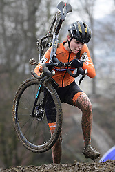 February 3, 2018 - Valkenburg, Pays bas - Nagengast Fleur (NED) in action during the 2018 UCI Cyclo-Cross World Championships for Women under 23 on February 03, 2018 (Credit Image: © Panoramic via ZUMA Press)