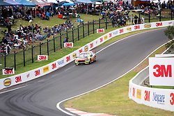 October 7, 2018 - Bathurst, NSW, U.S. - BATHURST, NSW - OCTOBER 07: Chaz Mostert / James Moffat in the Supercheap Auto Racing Ford Falcon across the top of the mountain at the Supercheap Auto Bathurst 1000 V8 Supercar Race at Mount Panorama Circuit in Bathurst, Australia. (Photo by Speed Media/Icon Sportswire) (Credit Image: © Speed Media/Icon SMI via ZUMA Press)