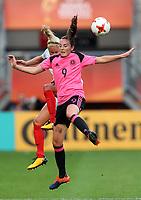 Football - 2017 UEFA Women's European [Euro] Championship - Group D: England vs. Scotland<br /> <br /> Caroline Weir of Scotland and Steph Houghton of England at Stadion Gagenwaard, Utrecht.<br /> <br /> COLORSPORT/LYNNE CAMERON