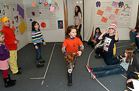 "Winni Playhouse Theater Camp celebrating Dr. Seuss' birthday with two presentations ""My Many Colored Day"" and ""The Sneetches"" on March 2, 2012."