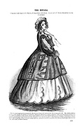 The Nevada Dress Godey's Lady's Book and Magazine, December, 1864, Volume LXIX, (Volume 69), Philadelphia, Louis A. Godey, Sarah Josepha Hale,
