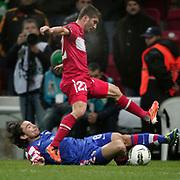 Turkey's Sabri SARIOGLU (F) during their UEFA EURO 2012 Play-off for Final Tournament First leg soccer match Turkey betwen Croatia at TT Arena in Istanbul Nüovember11, 2011. Photo by TURKPIX