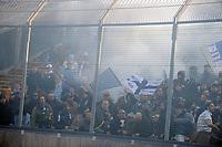 """Petardi dei tifosi del Napoli.<br /> Udine, 7/02/2010 Stadio """"Friuli""""<br /> Udinese-Napoli.<br /> Campionato Italiano Serie A 2009/2010<br /> Foto Nicolò Zangirolami Insidefoto"""