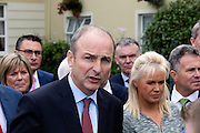 NO FEE PICTURES<br /> 20/1/16 Party leader Micheal Martin with members of the Fianna Fail Parliamentary Party, ahead of the closing of the party's annual think-in at the Seven Oaks Hotel in Carlow. Picture: Conor McCabe Photography