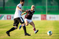 Žiga Kous of Mura vs David Tijanić of Triglav during football match between NK Triglav and NS Mura in 5th Round of Prva liga Telekom Slovenije 2019/20, on August 10, 2019 in Sports park, Kranj, Slovenia. Photo by Vid Ponikvar / Sportida