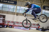 #120 (PELLUARD Vincent) COL during practice at the 2019 UCI BMX Supercross World Cup in Manchester, Great Britain