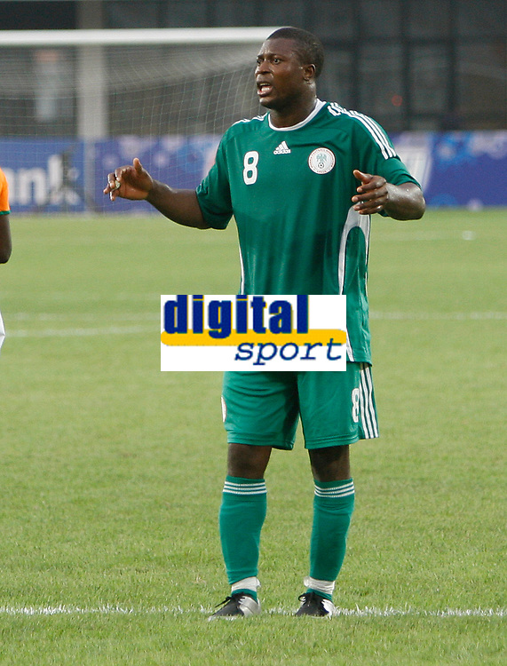 Photo: Steve Bond/Richard Lane Photography.<br />Nigeria v Ivory Coast. Africa Cup of Nations. 21/01/2008. Yakubu Ayegbeni watches his shot blaze wide
