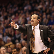 Head coach Jose Fernandez. USF, on the sideline during the UConn Huskies Vs USF Bulls Basketball Final game at the American Athletic Conference Women's College Basketball Championships 2015 at Mohegan Sun Arena, Uncasville, Connecticut, USA. 9th March 2015. Photo Tim Clayton