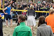 De koninklijke familie is in Zwolle voor de viering van Koningsdag. /// The royal family is in Zwolle for the celebration of King's Day.<br /> <br /> Op de foto / On the photo:  Prinses Laurentien