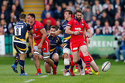 Bristol Rugby Fly-Half Nicky Robinson chips on - Photo mandatory by-line: Rogan Thomson/JMP - 07966 386802 - 27/05/2015 - SPORT - Rugby Union - Worcester, England - Sixways Stadium - Worcester Warriors v Bristol Rugby - Greene King IPA Championship Play-Off Final 2nd Leg.