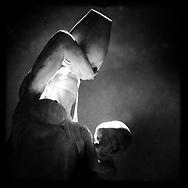 """The Sardinian amphora"". Plaster sculpture by Italian sculptor Francesco Ciusa exhibited at Tribu museum in Nuoro (Sardinia), Italy. 2014."