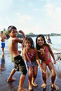 Children, Hana Bay, Maui, Hawaii