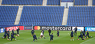 Manchester United players training during the Manchester United Training session ahead of the Paris Saint-Germain vs Manchester United Champions League match at Parc des Princes, Paris, France on 5 March 2019.