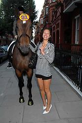 ZOE GRIFFIN at a party to celebrate the 21st birthday of one of their horses Leopold, held at 35 Sloane Gardens, London W1 on 10th September 2007.<br /><br />NON EXCLUSIVE - WORLD RIGHTS