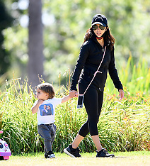 Eva Longoria spends the day at the park with her family - 11 June 2020