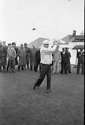 General Dwight D. Eisenhower plays golf in the rain with Joe Carr, the Irish Walker Cup Player, Mr. M. McCluskey, the United States Ambassador to Ireland, and Mr. Freeman Godsen, a member of the Generals Party, at Portmarnock Golf Club..Eisenhower drives off from the first tee..23.08.1962.<br /> <br /> historic images of Dwight D. Eisenhower in Dublin, Ireland.<br /> historic photo of Dwight D. Eisenhower in Dublin, Ireland.<br /> historic photo of Dwight D. Eisenhower in Dublin, Ireland.<br /> historic photograph of Dwight D. Eisenhower in Dublin, Ireland.<br /> historic photographs of Dwight D. Eisenhower in Dublin, Ireland.<br /> historic photos of Dwight D. Eisenhower in Dublin, Ireland.<br /> historic picture of Dwight D. Eisenhower in Dublin, Ireland.<br /> historic pictures of Dwight D. Eisenhower in Dublin, Ireland.<br /> historic pixs of Dwight D. Eisenhower in Dublin, Ireland.<br /> historic view of Dwight D. Eisenhower in Dublin, Ireland.<br /> historical image of Dwight D. Eisenhower in Dublin, Ireland.<br /> historical images of Dwight D. Eisenhower in Dublin, Ireland.<br /> historical photo archive of Dwight D. Eisenhower in Dublin, Ireland.<br /> historical photographs of Dwight D. Eisenhower in Dublin, Ireland.<br /> historical photos of Dwight D. Eisenhower in Dublin, Ireland.<br /> historical picture of Dwight D. Eisenhower in Dublin, Ireland.<br /> historical pictures of Dwight D. Eisenhower in Dublin, Ireland.<br /> history photo of Dwight D. Eisenhower in Dublin, Ireland.<br /> history photos of Dwight D. Eisenhower in Dublin, Ireland.<br /> history picture of Dwight D. Eisenhower in Dublin, Ireland.<br /> history pictures of Dwight D. Eisenhower in Dublin, Ireland.<br /> image of Dwight D. Eisenhower in Dublin, Ireland.