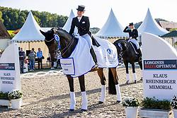 BREDOW-WERNDL Jessica von (GER), TSF Dalera BB<br /> Siegerehrung<br /> Deutsche Meisterschaft der Dressurreiter<br /> Klaus Rheinberger Memorial<br /> Nat. Dressurprüfung Kl. S**** - Grand Prix Special<br /> Balve Optimum - Deutsche Meisterschaft Dressur 2020<br /> 19. September2020<br /> © www.sportfotos-lafrentz.de/Stefan Lafrentz