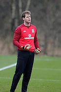 Wales goalkeeper Owain Fon Williams in action.Wales football team training and player media session in Cardiff on Tuesday 19th March 2013.  The team are together ahead of their next two World cup qualifying matches against Scotland and Croatia. pic by Andrew Orchard, Andrew Orchard sports photography,