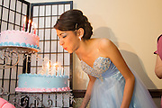 Destinee Torrez celebrates her Quinceanera with family and friends in San Jose, California, on February 4, 2012. (Stan Olszewski/SOSKIphoto)