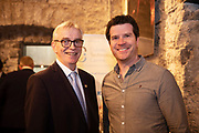 02/04/2019 Repro free:  <br /> Galway Chamber  President Dave Hickey and Paul Killoran, Founder & CEO of Ex Ordo at Harvest in the Mick Lally Theatre , an opportunity to share ideas for innovation and growth and discuss how to cultivate the city as a destination for innovation, hosted by GTC  and Sponsored by AIB and The Sunday Business Post .<br /> <br /> A keynote address Start Up to Multinational - Positioning & Marketing Software for an International Audience from Joe Smyth, VP of R&D at Genesysat Genesys and a Panel Discussion on International Growth Through Innovation and Positioning<br /> Mary Rodgers- Innovation Community Managerat the Portershed (moderator)<br /> Kathryn Harnett- Senior Consultantat Milltown Partners LLP, Giovanni Tummarello, Founder and CPOat Siren,  Mark Quick, Founding Director 9th Impact and Founding Director, Nephin Whiskey, Nicola Barrett, Senior Marketing Managerat Connacht Rugby<br />  Photo: Andrew Downes, Xposure