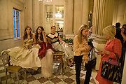 ANNA HESKETH; VIOLET HESKETH; ENYAT YOUNES; BENEDICT; OPHELIE RENOUARD.  The 2008 Crillon Debutante Ball. Getting Ready the Day before. Crillon Hotel. Paris. 29 November 2008. *** Local Caption *** -DO NOT ARCHIVE-© Copyright Photograph by Dafydd Jones. 248 Clapham Rd. London SW9 0PZ. Tel 0207 820 0771. www.dafjones.com.