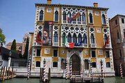 The Palazzo Cavalli Franchetti, a palace on the Grand Canal in Venice, Italy. Erected in 1565, and modernised internally in the 19th century (along with external alterations). Home of the Istituto Veneto di Scienze & Lettere e Arti since 1999. It is frequently used for cultural events.